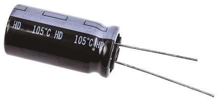 Panasonic 2200μF Electrolytic Capacitor 35V dc, Through Hole - EEUHD1V222 (2)