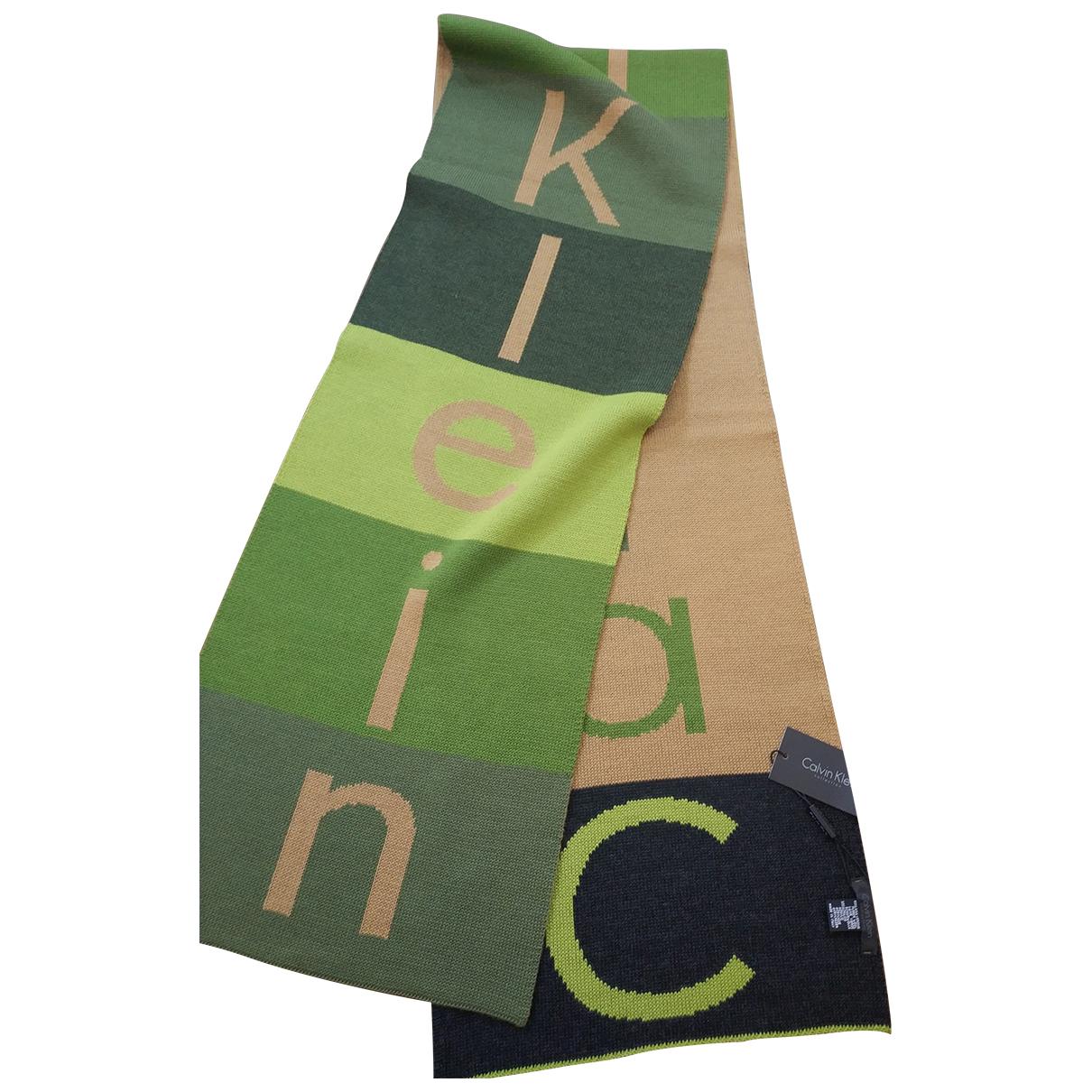 Calvin Klein Collection N Green Wool scarf & pocket squares for Men N