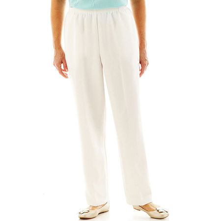 Alfred Dunner Pull-On Pants, 14 Petite , White