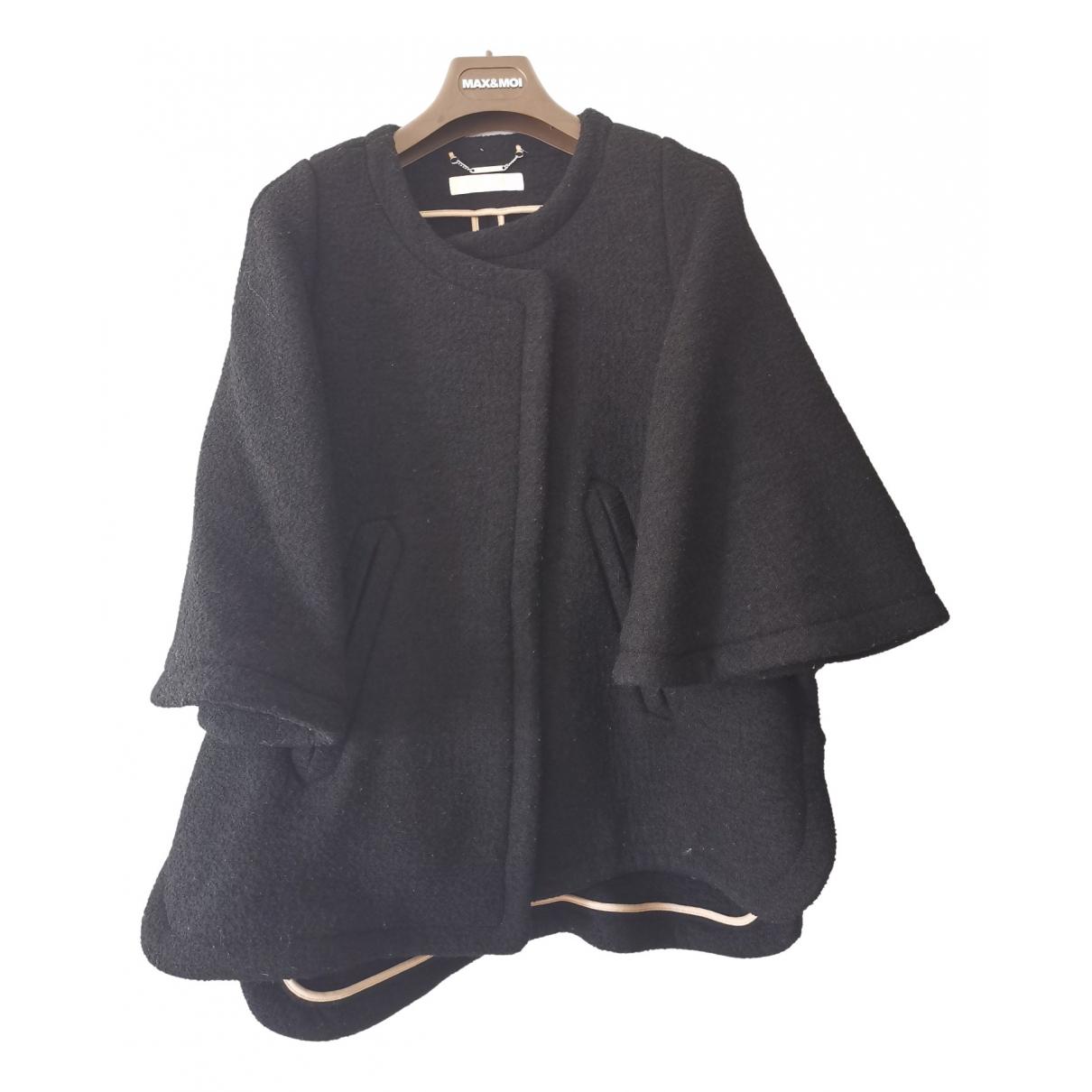 Chloe - Manteau   pour femme en laine - noir