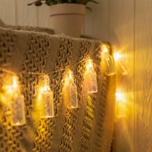 1pc String Light With 10pcs Bottle Shaped Bulb