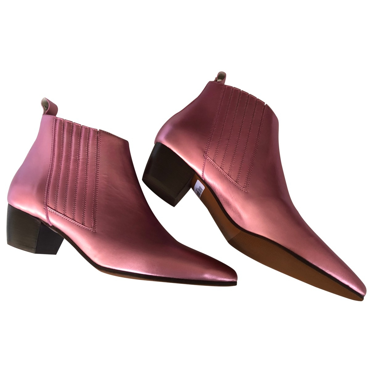 Escada \N Pink Leather Boots for Women 37 EU