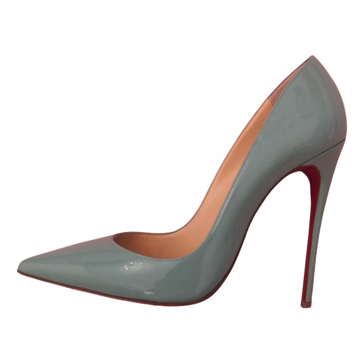 Christian Louboutin So Kate  Turquoise Leather Heels for Women 39 EU