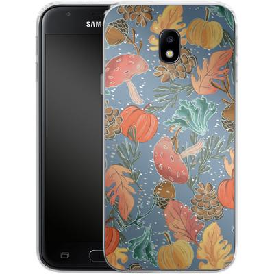 Samsung Galaxy J3 (2017) Silikon Handyhuelle - Fall Woodland Blue von Mukta Lata Barua