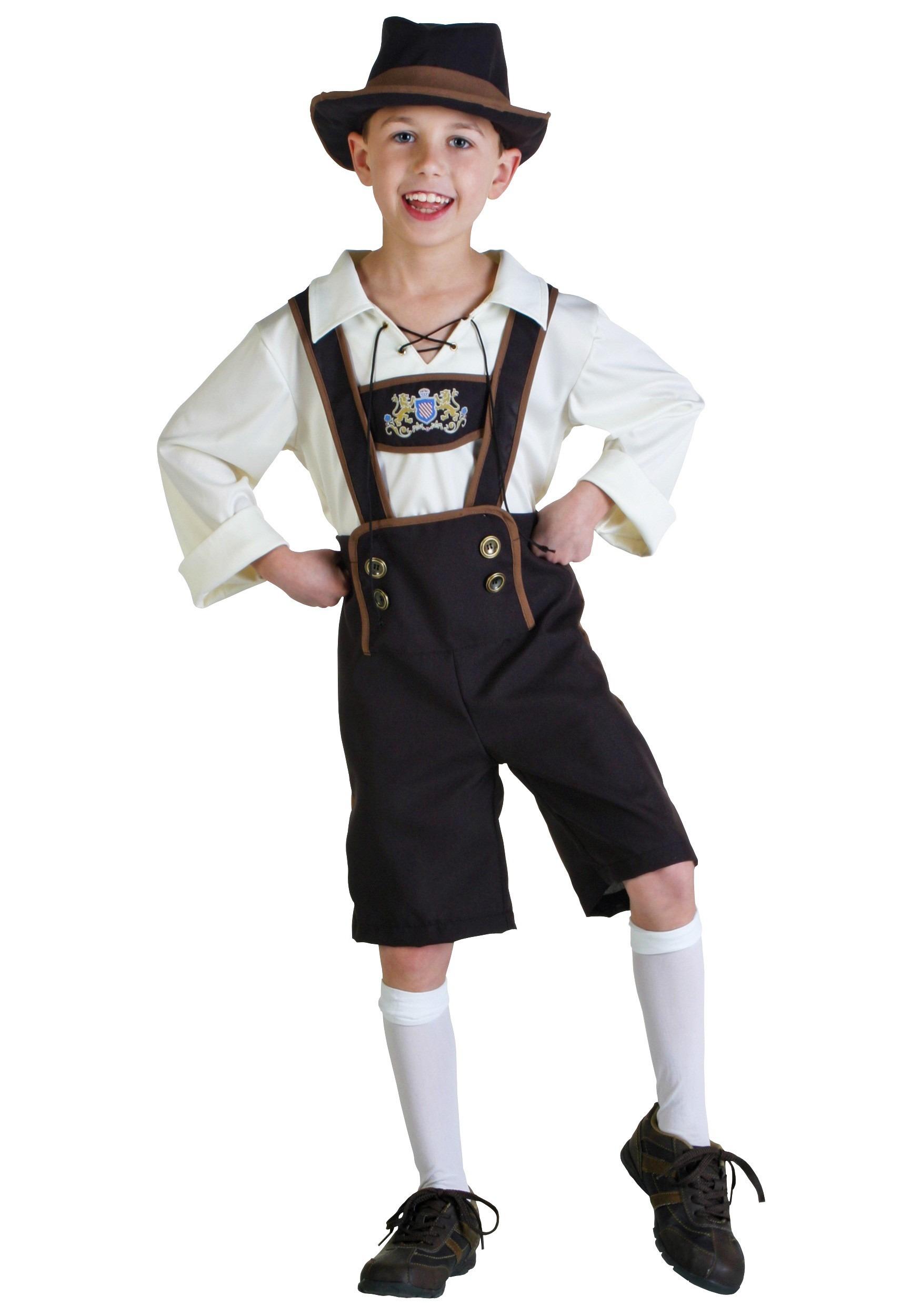 German Lederhosen Costume for Boys