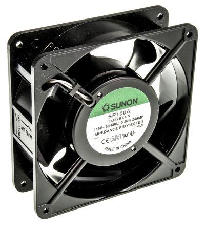 Sunon , 115 V ac, AC Axial Fan, 120 x 120 x 38mm, 161.4m³/h, 20W
