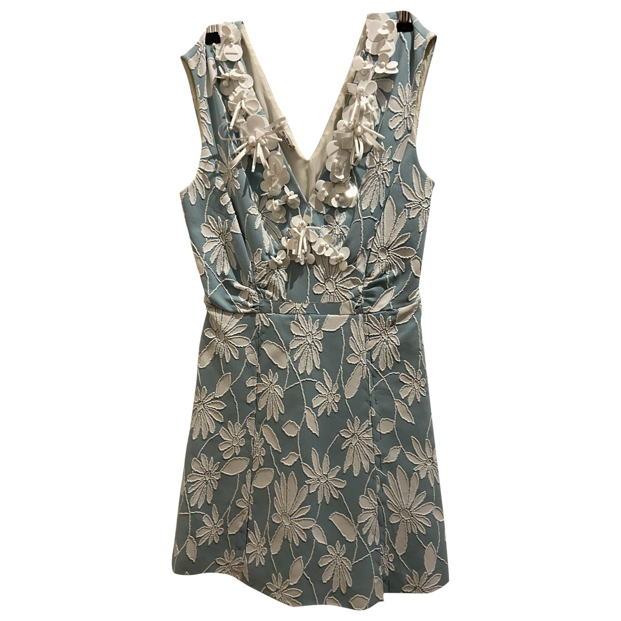 Miu Miu \N Kleid in  Gruen Viskose