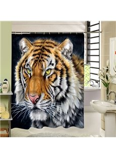 3D Siberian Tiger Head Printed Polyester Shower Curtain