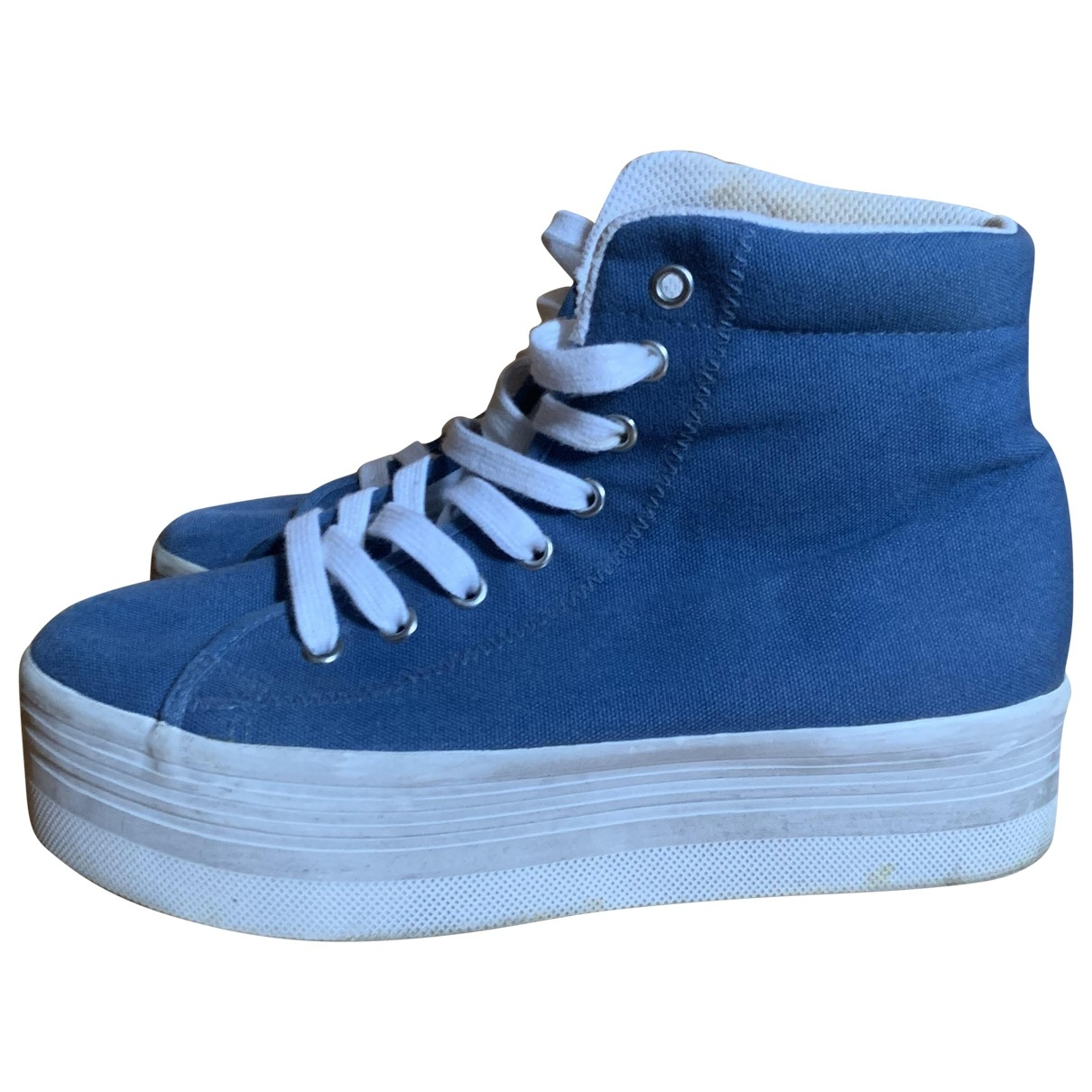 Jeffrey Campbell \N Blue Rubber Trainers for Women 39 IT