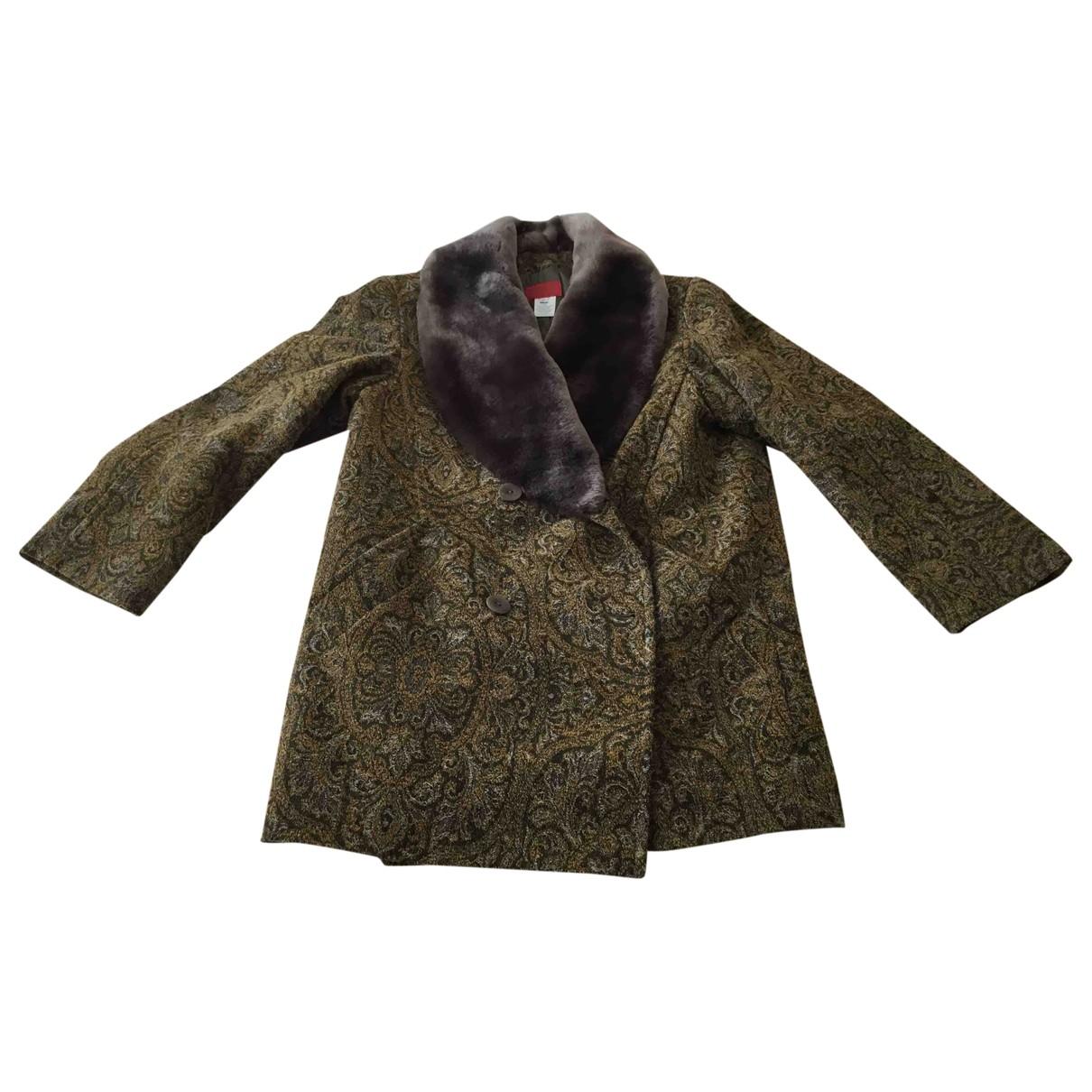 Kenzo \N Khaki Wool coat for Women 36 FR