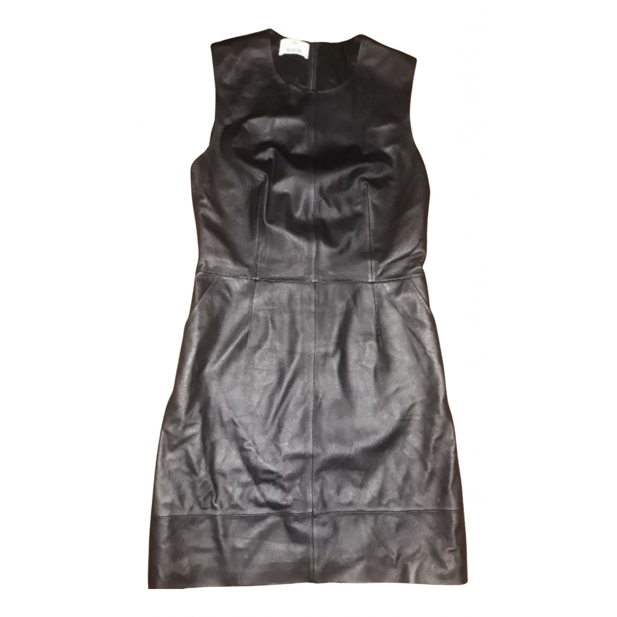 Allude \N Kleid in  Schwarz Leder