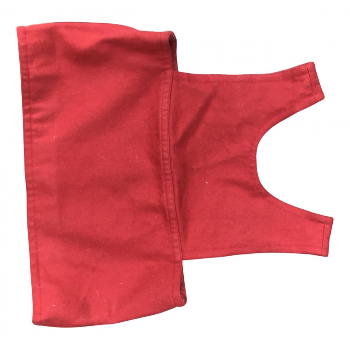 Fendi - Top   pour femme en laine - rouge