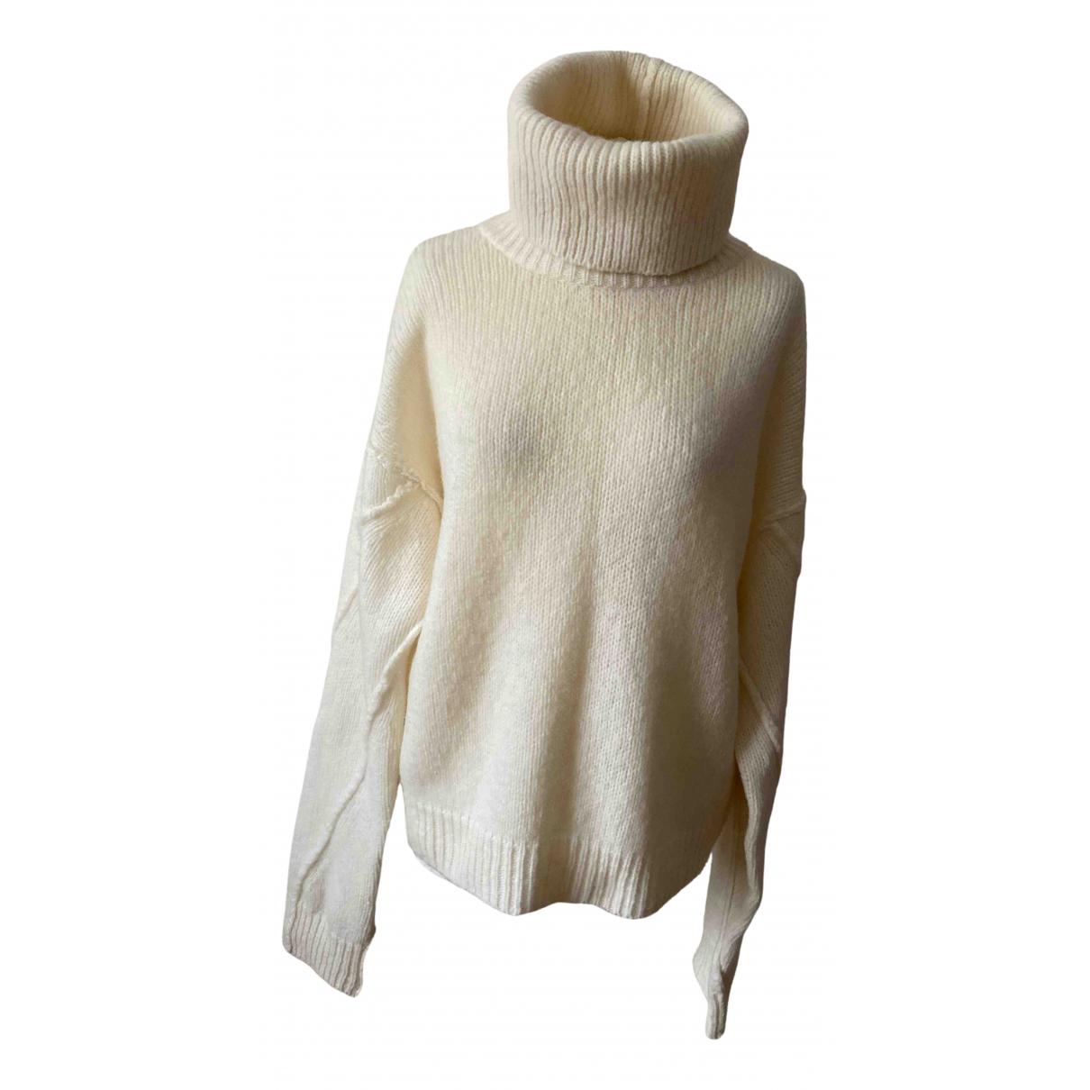 Tory Burch - Pull   pour femme en laine - ecru