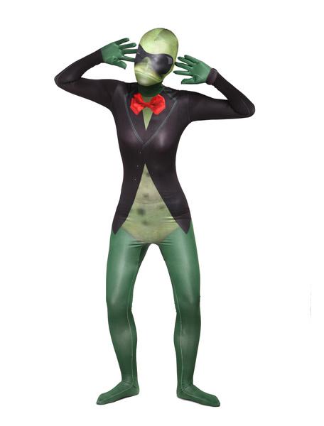 Milanoo Morph Suit Frog Style Zentai Suit Full Body Lycra Spandex Bodysuit