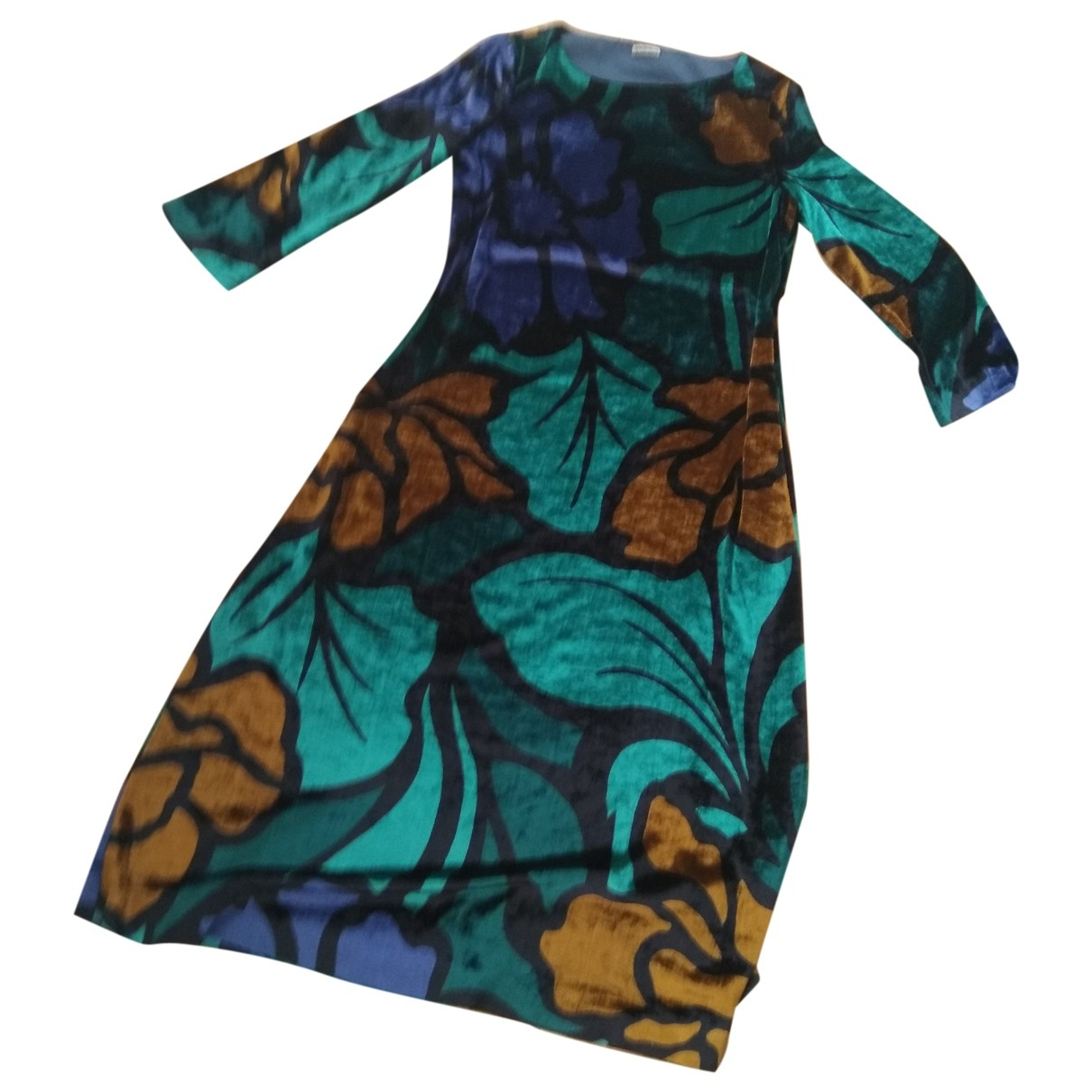 Maliparmi \N Kleid in  Gruen Samt
