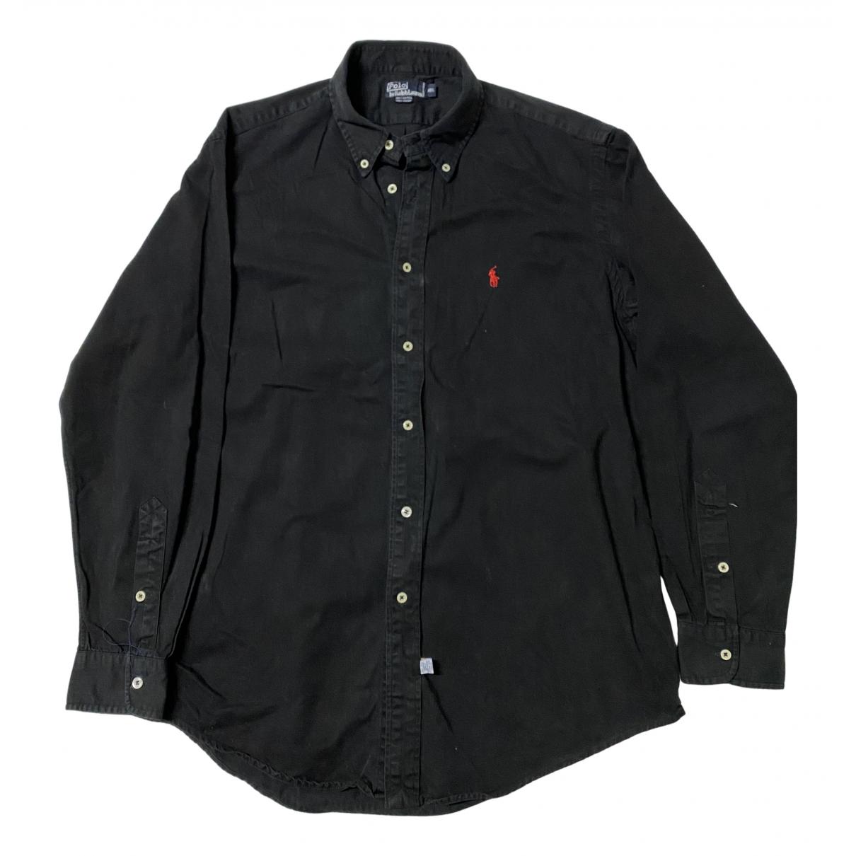 Polo Ralph Lauren - Chemises   pour homme en coton - noir