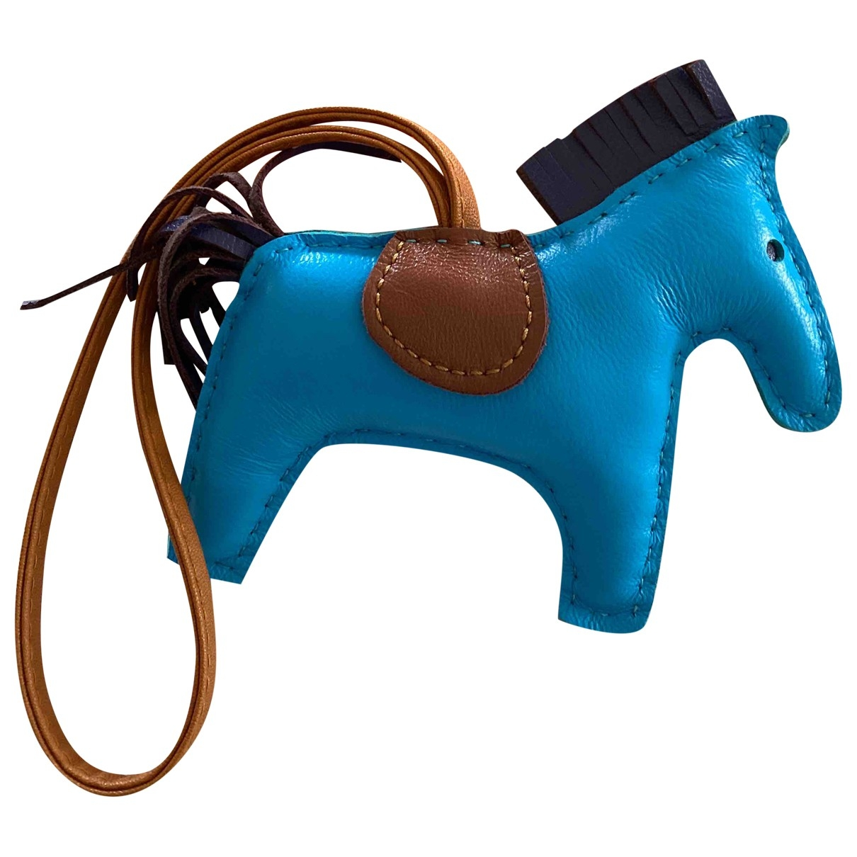 Hermès Rodeo Blue Leather Bag charms for Women \N