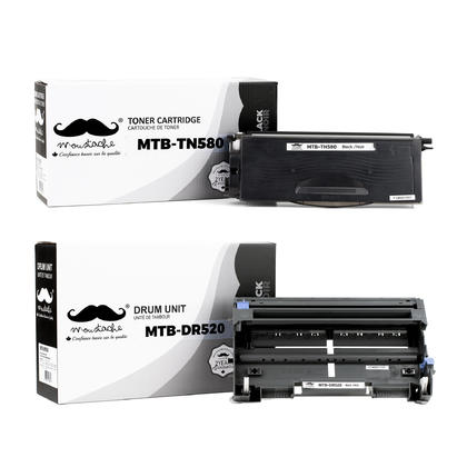 Compatible Brother HL-5240LT Toner and Drum Cartridges Combo by Moustache