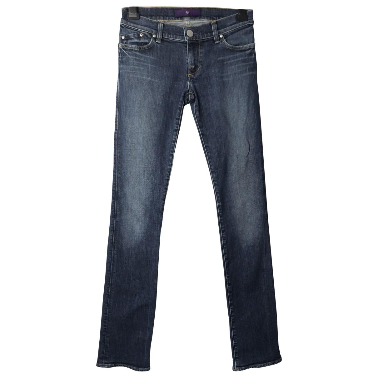 Victoria Beckham \N Blue Cotton - elasthane Jeans for Women 27 US