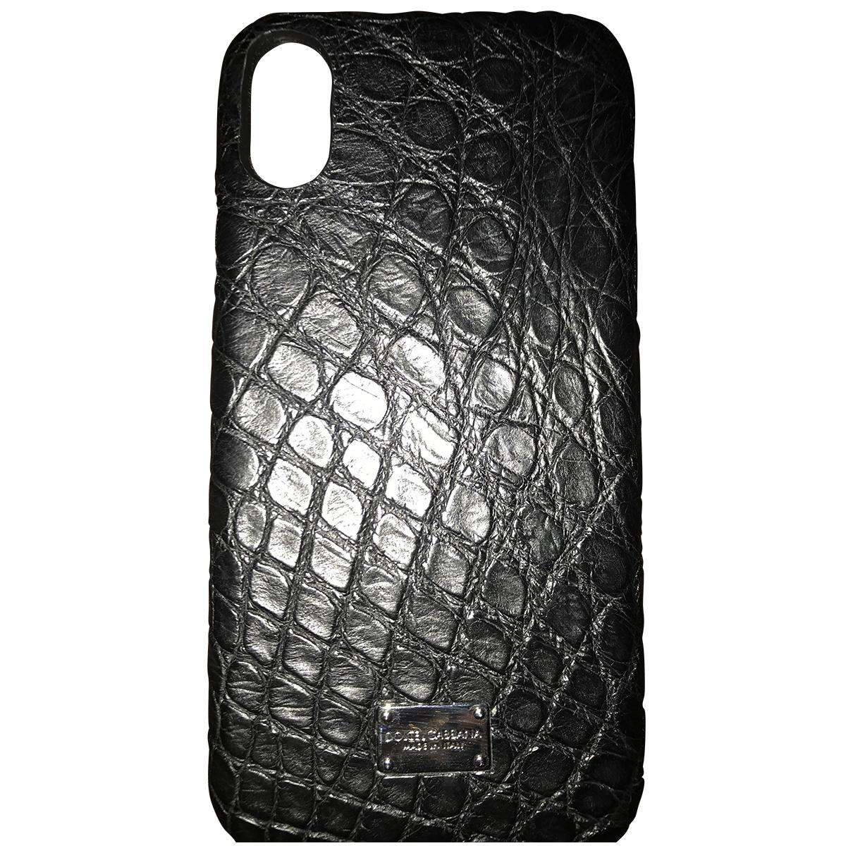 Dolce & Gabbana - Accessoires   pour lifestyle en crocodile - noir