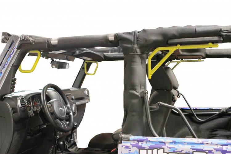 Steinjager J0044763 Grab Handle Kit Wrangler JK 2007-2018 Rigid Design Front and Rear for 2 Door JK Lemon Peel