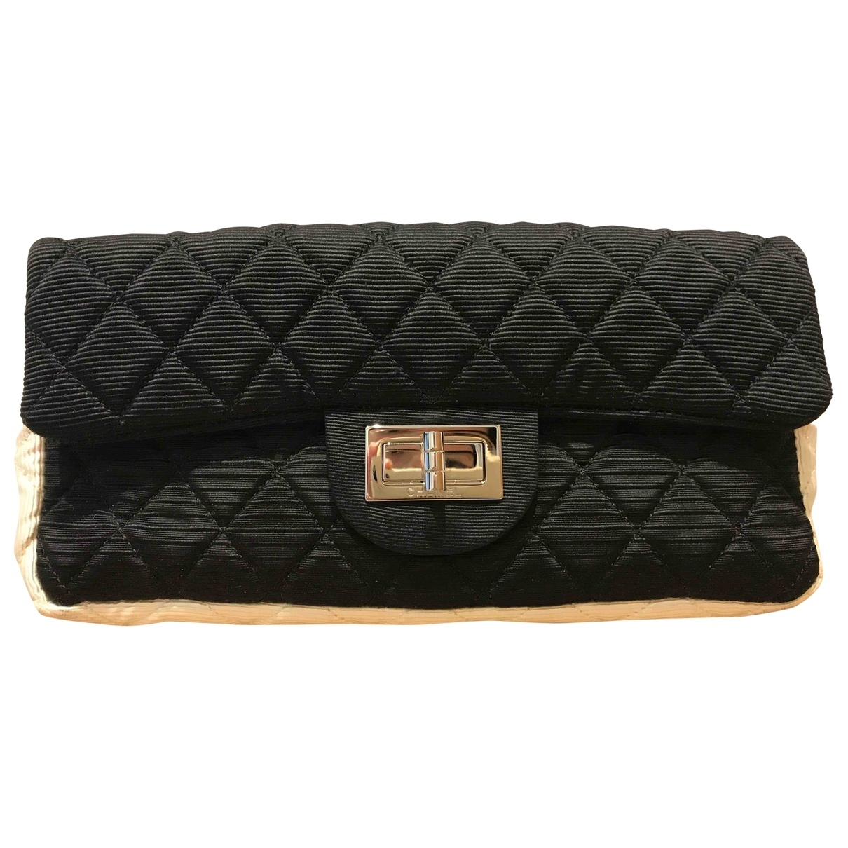 Chanel 2.55 Handtasche in  Schwarz Leinen