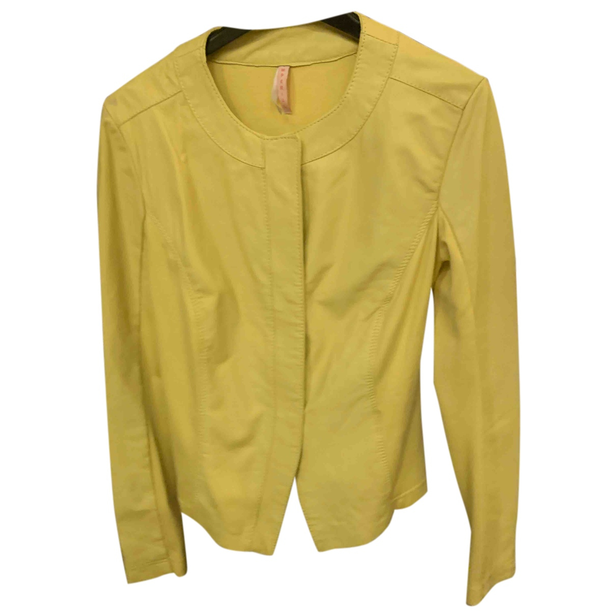 Imperial - Veste   pour femme en cuir - jaune