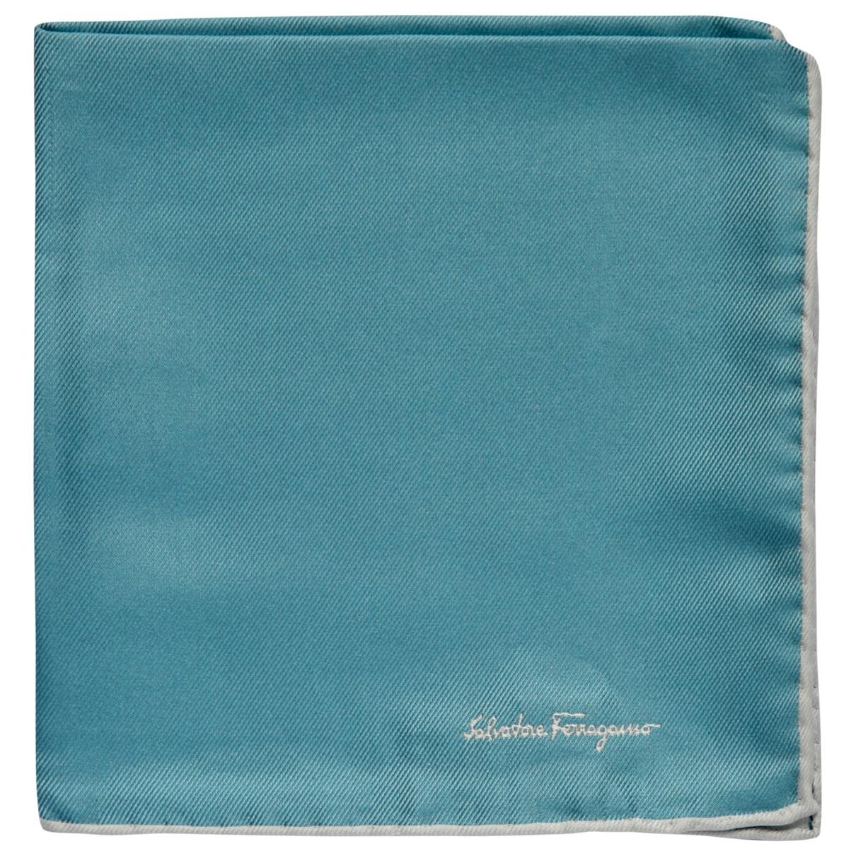 Salvatore Ferragamo \N Blue Silk scarf & pocket squares for Men \N