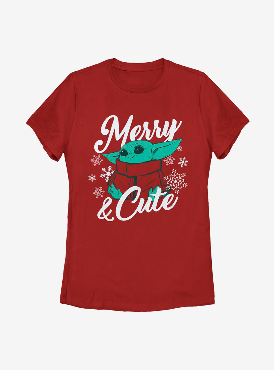 Star Wars The Mandalorian The Child Merry And Cute Womens T-Shirt