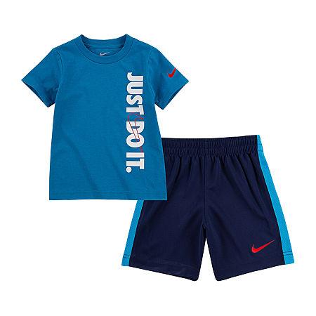 Nike Toddler Boys 2-pc. Short Set, 2t , Blue