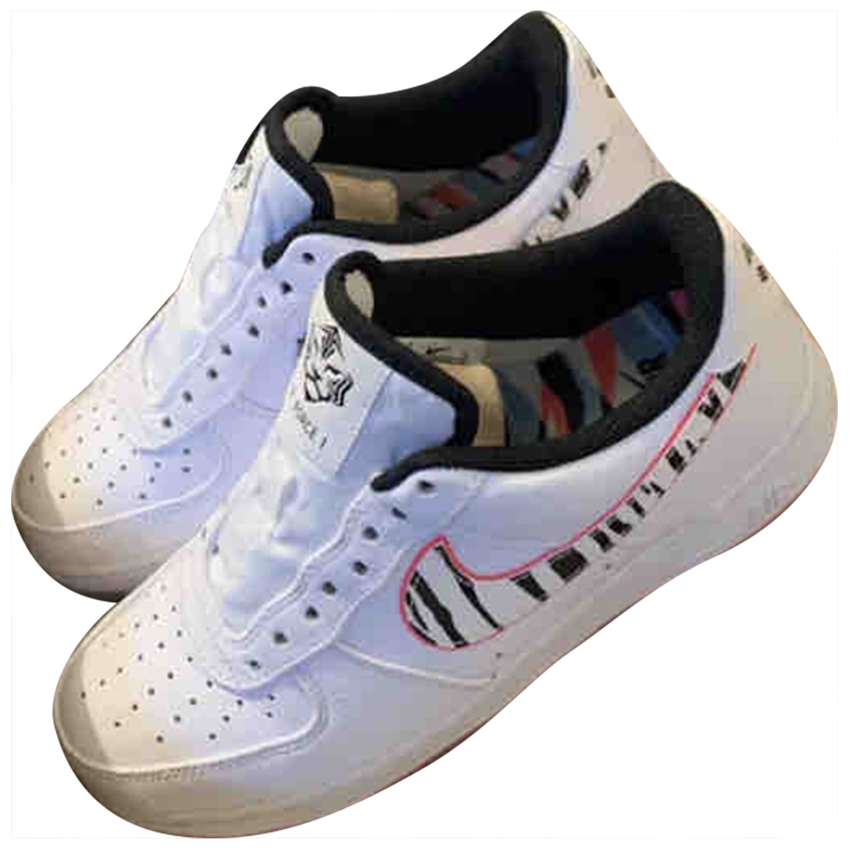 Nike Air Force 1 White Leather Trainers for Women 40.5 EU