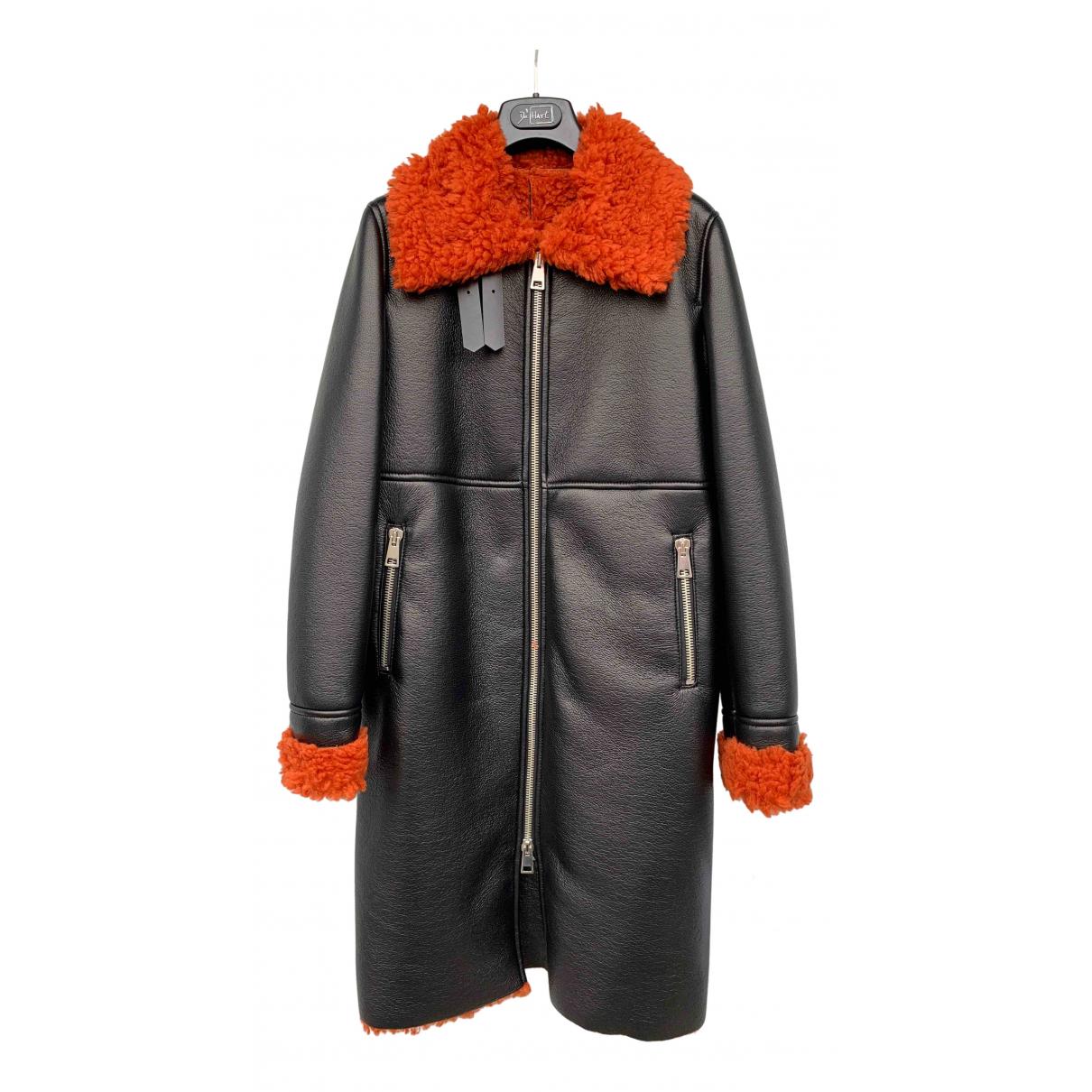 De Hart - Manteau   pour femme en fourrure synthetique - noir