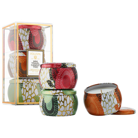 VOLUSPA Mini Tin Candle Set, One Size , Multiple Colors