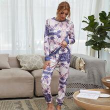 Outfit de dos piezas Cordon Tie-Dye Casual