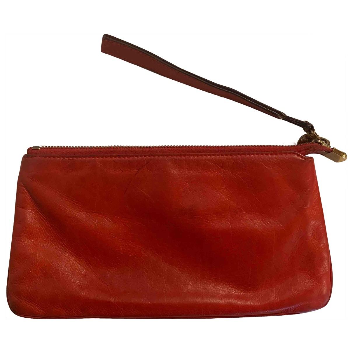 Gucci \N Orange Leather Clutch bag for Women \N