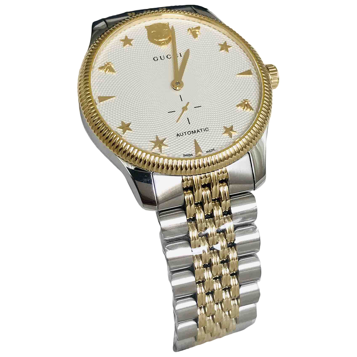 Gucci G-Timeless Silver Gold plated watch for Men N
