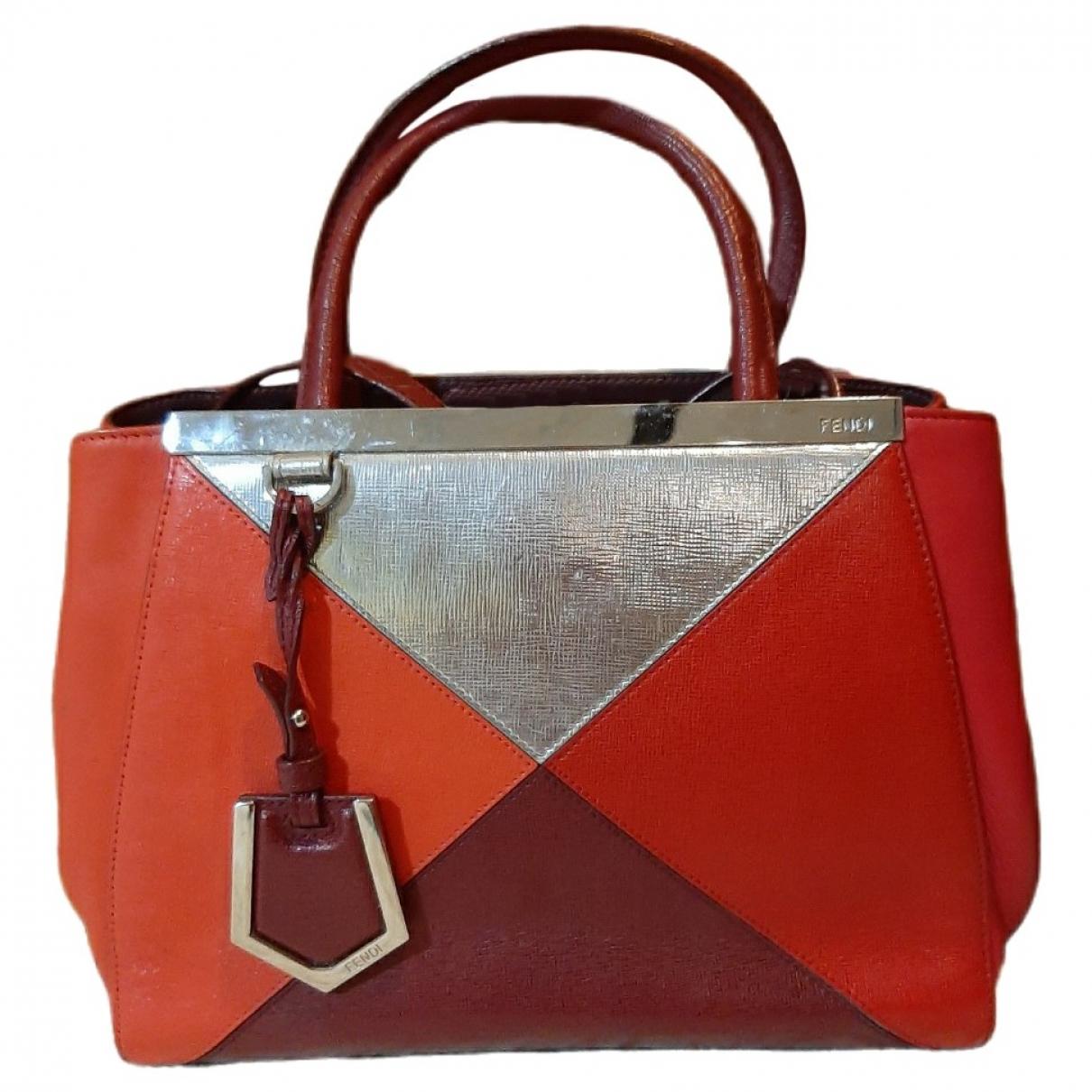 Fendi 2Jours Red Leather handbag for Women \N