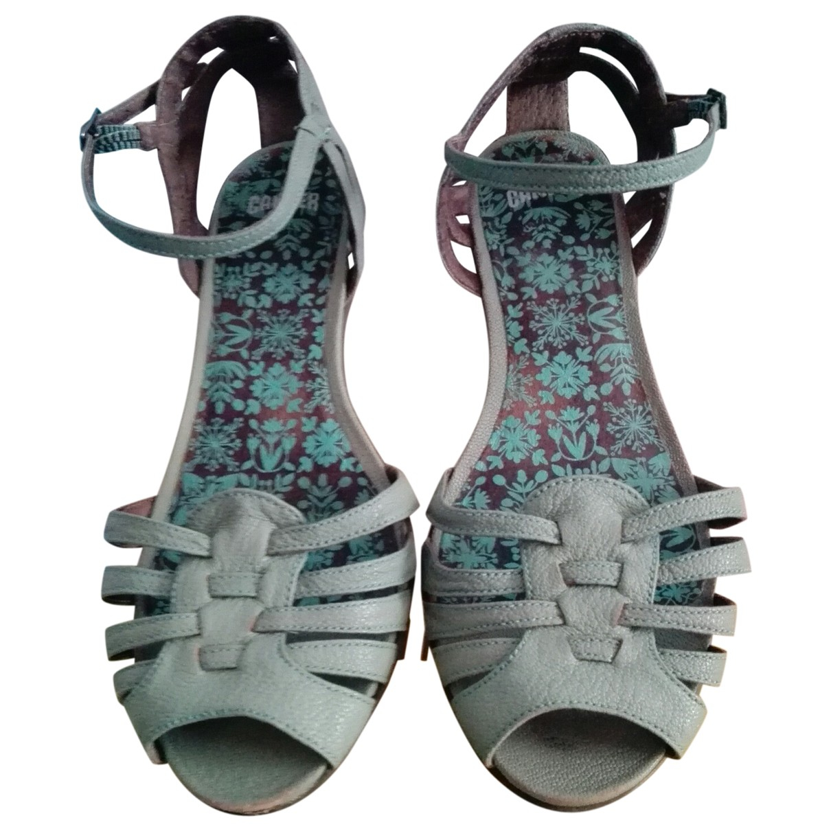 Camper \N Turquoise Leather Sandals for Women 38 EU