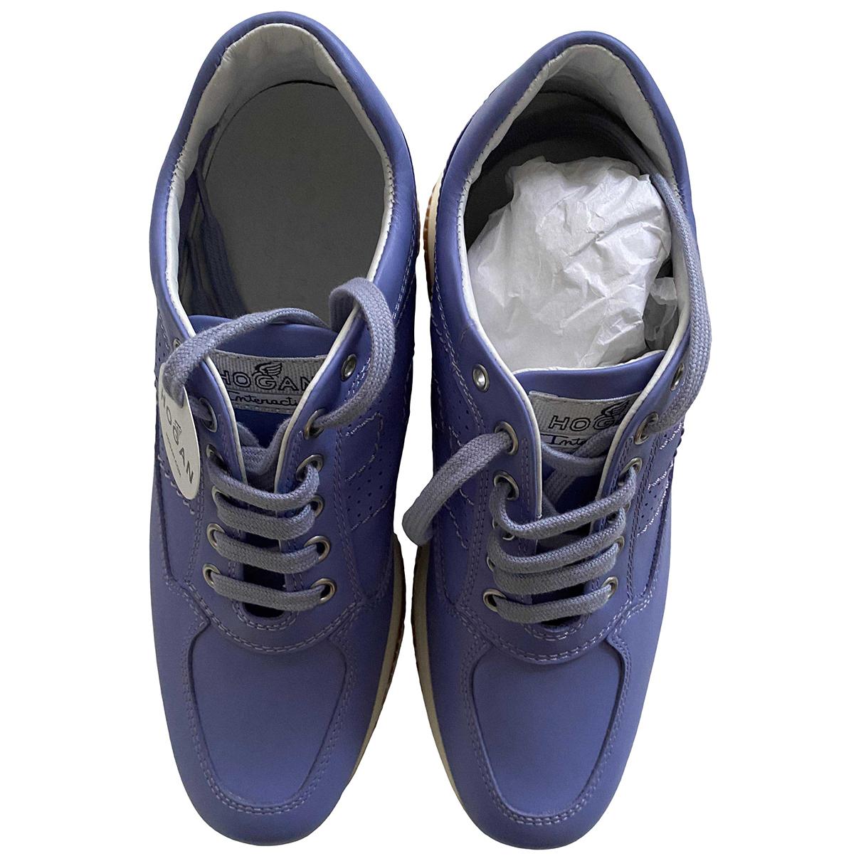 Hogan \N Sneakers in  Lila Leder