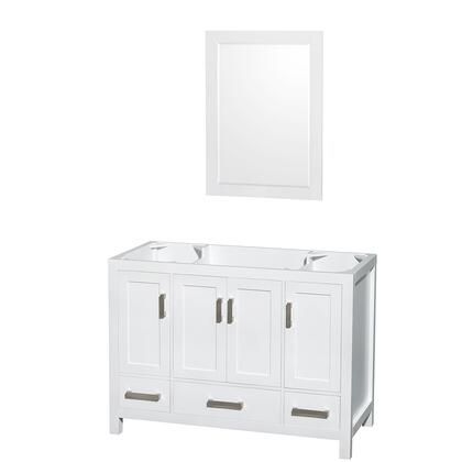 WCS141448SWHCXSXXM24 48 in. Single Bathroom Vanity in White  No Countertop  No Sink  and 24 in.