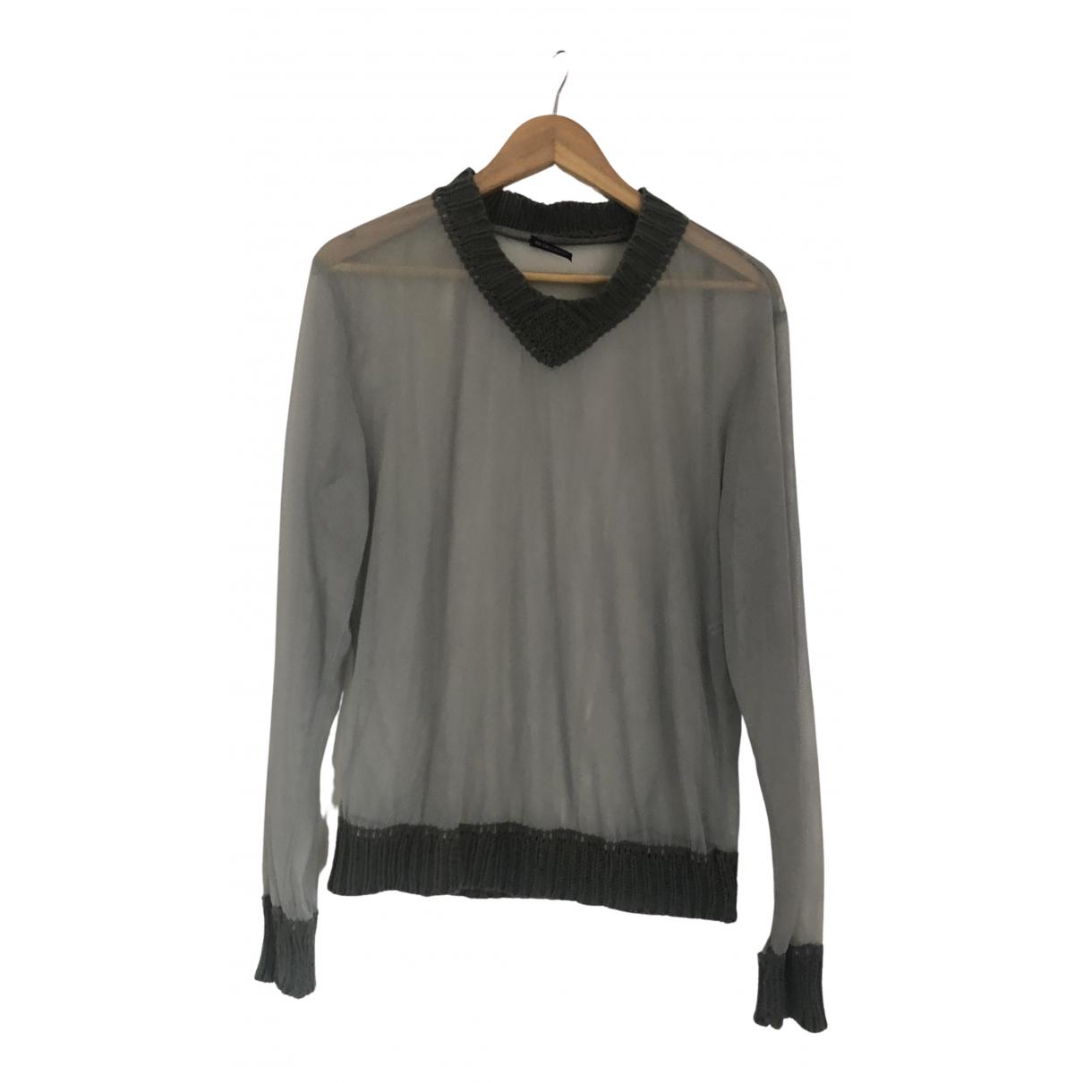 Ann Demeulemeester \N Pullover.Westen.Sweatshirts  in  Grau Baumwolle