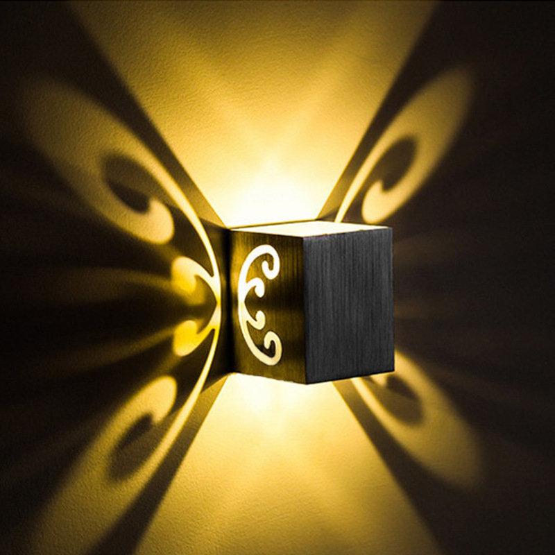 Butterfly Shape Triangle Shape 3W LED Wall Lamp Bedroom Living Room Sconce Lamp Spotlight