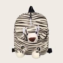 Kids Cartoon Decor Zebra Pattern Backpack