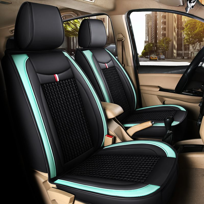 Full Coverage Wear Resistant Durable Ice Silk 1 Front Car Seat Cover Suitable For Most Cars/ 7-Seater Seat Covers Can Be Customized