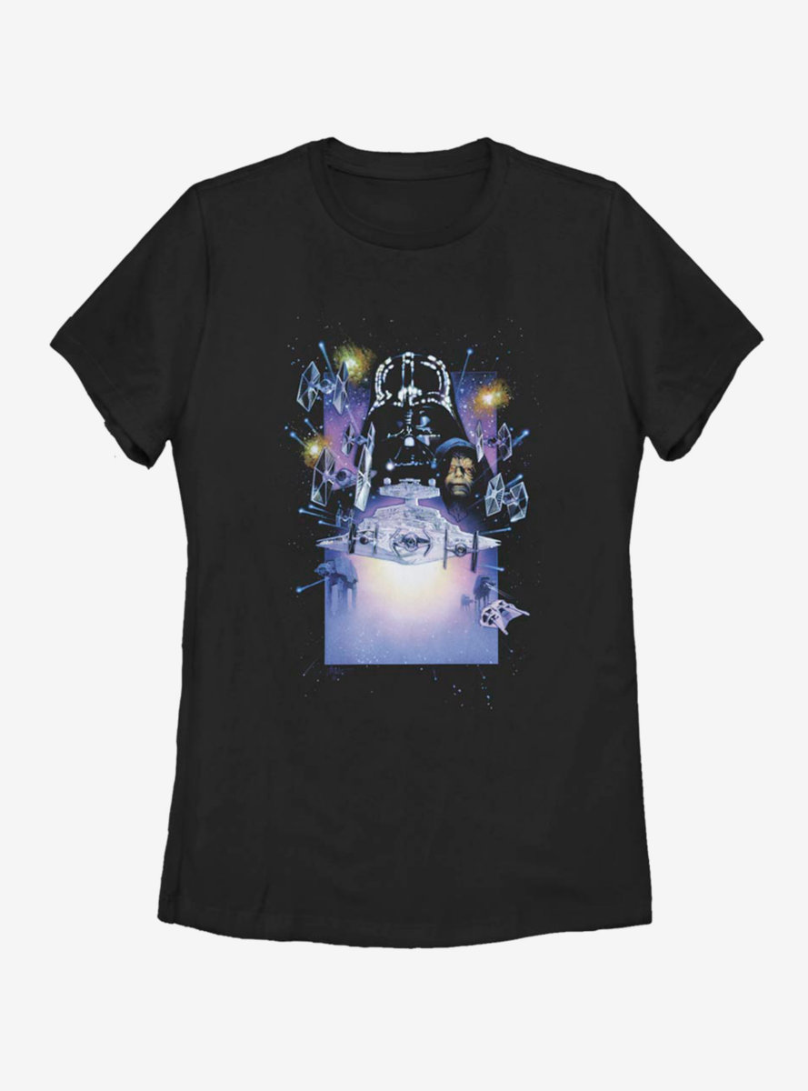 Star Wars Darth Vader Galaxy Womens T-Shirt