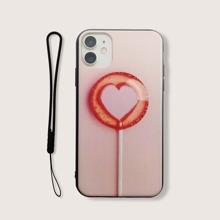 iPhone Etui mit Lutscher Muster und Lanyard