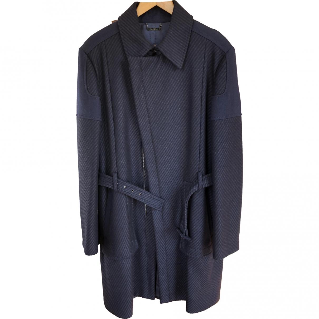 Byblos - Manteau   pour homme en laine - marine