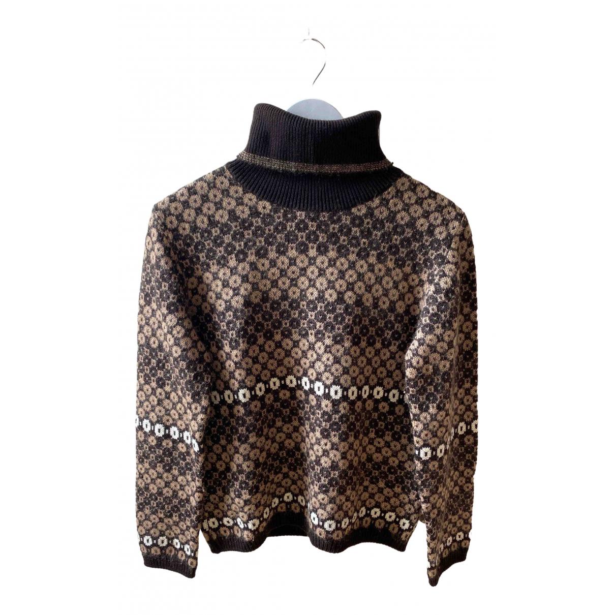 Louis Feraud \N Brown Wool Knitwear for Women 12 UK