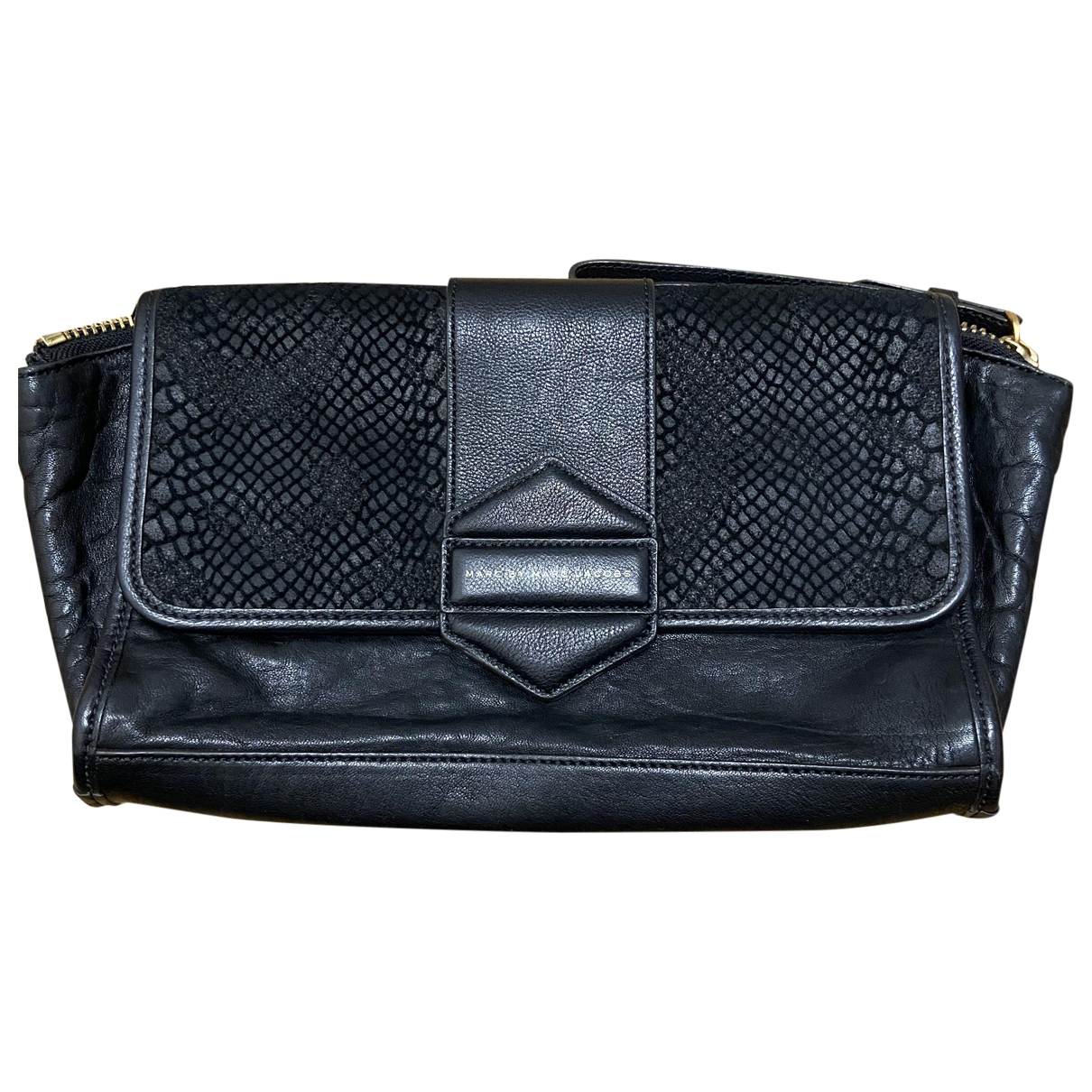 Marc By Marc Jacobs \N Clutch in  Schwarz Leder