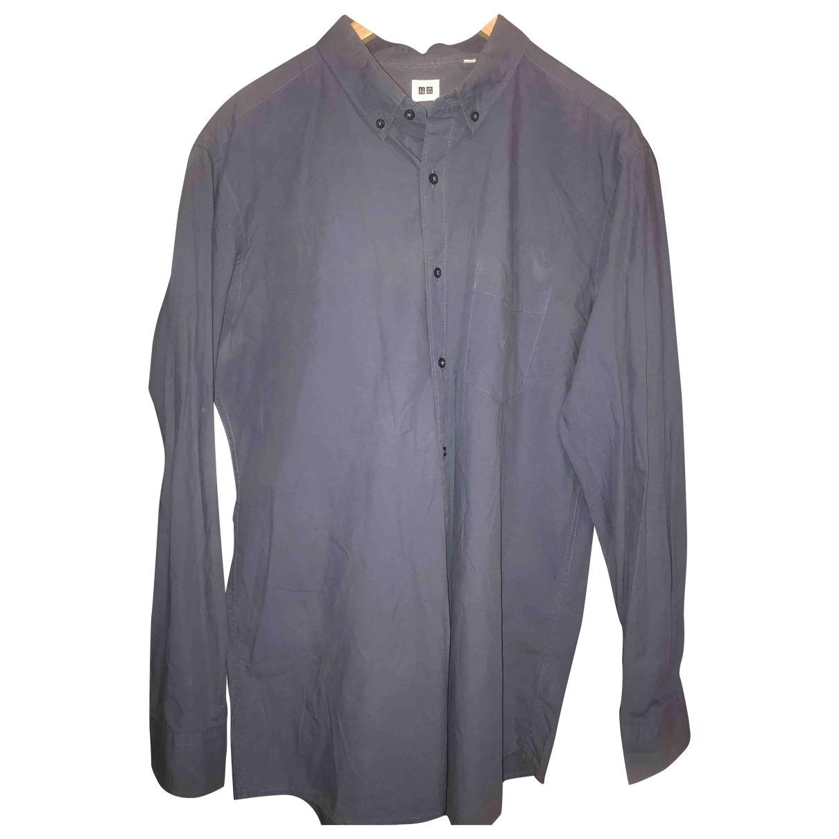 Uniqlo - Chemises   pour homme - bleu